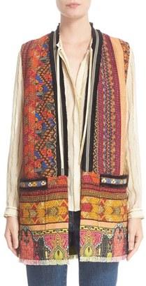 Women's Etro Ribbon Print Cotton Blend Vest $1,535 thestylecure.com