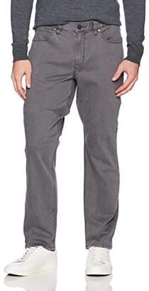 Perry Ellis Men's Slim Fit Cross Over Rinsed Denim