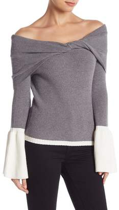 Do & Be Do + Be Contrast Off-the-Shoulder Sweater