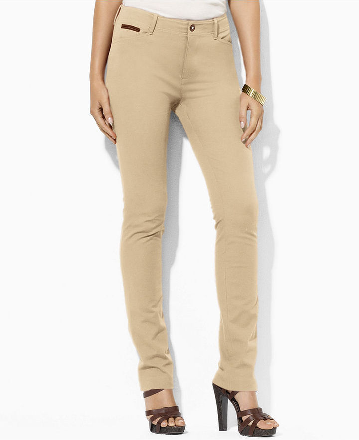 Lauren Ralph Lauren Lauren by Ralph Lauren Pants, Stretch Straight-Leg Ankle