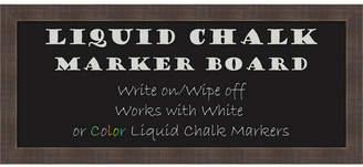 Amanti Art Whiskey Brown Rustic 32x14 Framed Liquid Chalk Marker Board