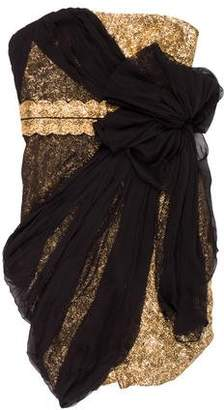 Marchesa Silk Cocktail Dress