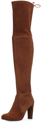 Stuart Weitzman Highland Suede Over-The-Knee Boot, Walnut $798 thestylecure.com