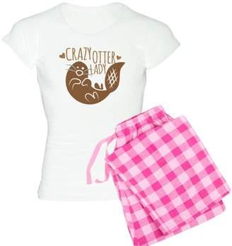 CafePress - Crazy Otter Lady Pajamas - Womens Pajama Set 57689ab1e
