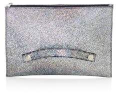 Furla Arcobalove Metallic Leather Envelope Clutch