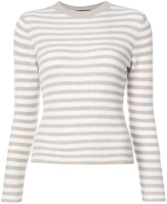 The Elder Statesman cashmere striped jumper