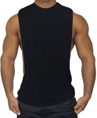 a0e4274bea1ce Meijunter Men Muscle Vest Sports Fitness Loose Tank Tops Sleeveless  Undershirt