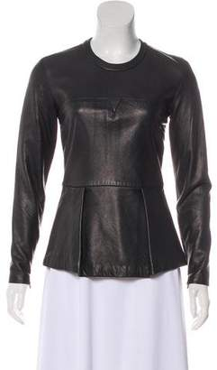 3.1 Phillip Lim Leather Long Sleeve Top