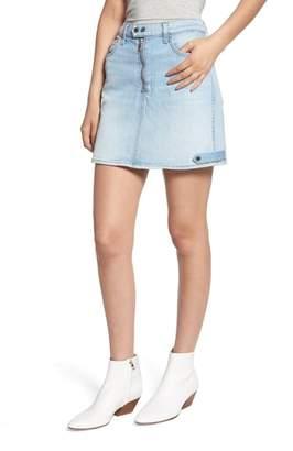 7 For All Mankind A-Line Moto Miniskirt