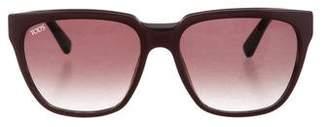 Tod's Two-Tone Logo Sunglasses