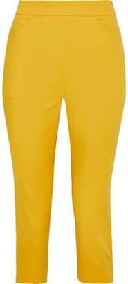 Moschino Cropped Cotton-Blend Slim-Leg Pants
