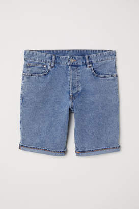 H&M Denim Shorts Slim fit - Blue