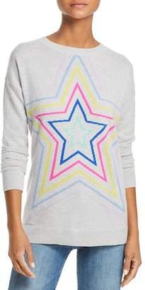 Aqua Multi Star Crewneck Cashmere Sweater - 100% Exclusive