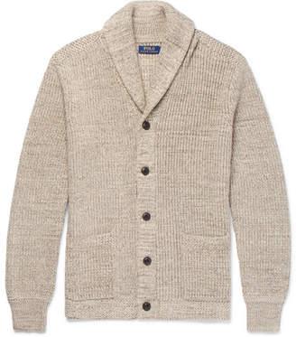Polo Ralph Lauren Shawl-Collar Ribbed Cotton Cardigan - Men - Beige