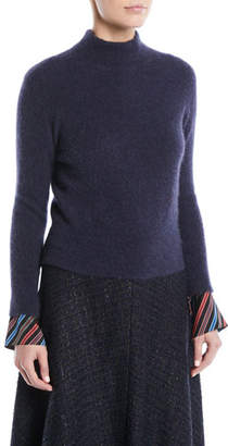 Escada Mock-Neck Cashmere-Blend Sweater