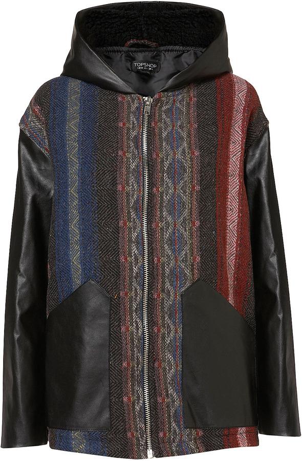 Topshop Aztec Blanket Jacket