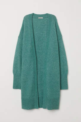 H&M Long Wool-blend Cardigan - Green