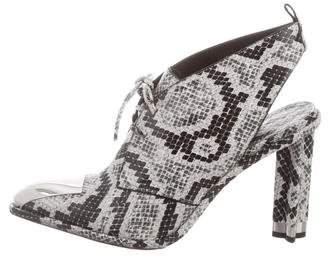 Louis Vuitton 2016 Snakeskin Pointed-Toe Booties