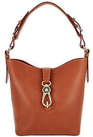 Dooney & Bourke Logo Lock Toscana Leather Shoulder Bag- Lily $299.94 thestylecure.com