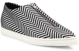 Stella McCartney Sligo Zigzag Zip-Front Sneakers