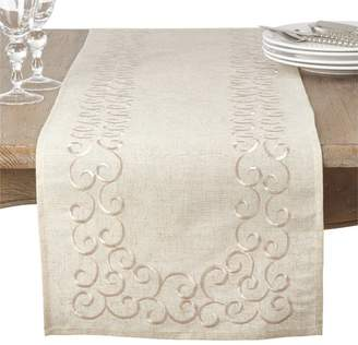 Lark Manor Jean Embroidered Motif Table Runner