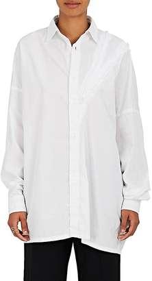 Yohji Yamamoto Women's Cotton Oversized Shirt $770 thestylecure.com