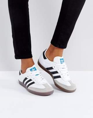 adidas Samba Trainer In White