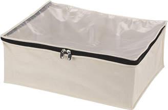 Household Essentials Zippered Canvas Blanket Storage Bag