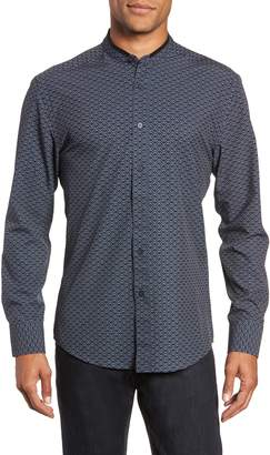Vince Camuto Band Collar Performance Knit Sport Shirt