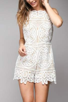 Pretty Little Things Lace Embroidery Romper