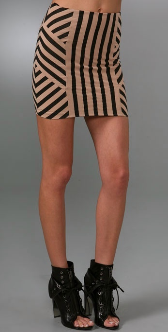 Torn By Ronny Kobo Nina African Stripe Skirt