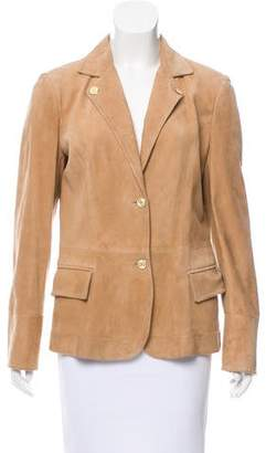 Dolce & Gabbana Suede Button-Up Blazer