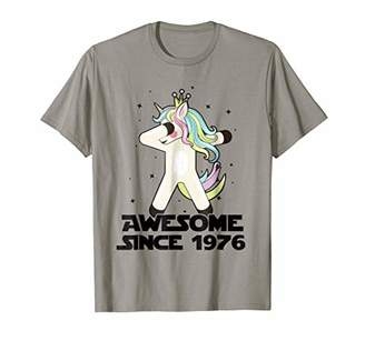 Cute Unicorn Dabbing Awesome Since 1976 42th Yrs Old T Shirt