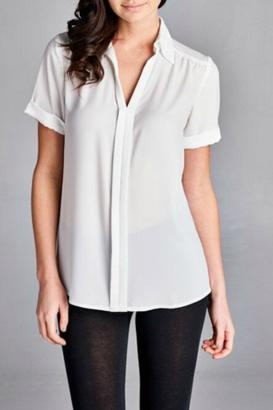 Inance Button Front Blouse $99 thestylecure.com