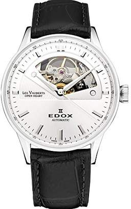Edox Women's 85019 3A AIN Les Vauberts Analog Display Swiss Automatic Black Watch