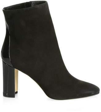 Manolo Blahnik Rosie Suede & Patent Leather Ankle Boots