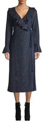Free People Ruffled Wrap Midi Dress