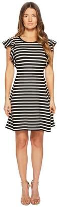 Kate Spade Stripe Flutter Sleeve Dress Women's Dress