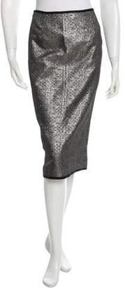 Nomia Metallic Pencil Skirt