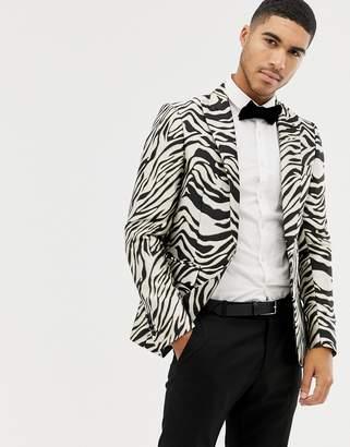 Devils Advocate zebra blazer