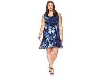 Karen Kane Plus Plus Size Ruffle Hem Dress