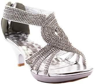 c611ebdb3fc JJF Shoes Angel37 Strappy Rhinestone Dress Sandal Low Heel Shoes-7