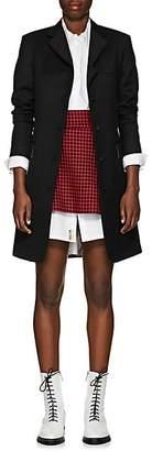 Thom Browne Women's Wool Twill Topcoat - Black