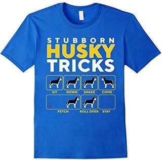 Stubborn Husky Tricks T Shirt - Funny Guide To Training