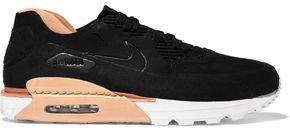 Nike 90 Royal Suede And Leather Sneakers