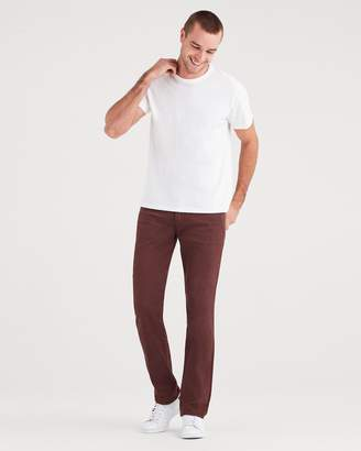 7 For All Mankind Total Twill The Straight with Clean Pocket in Blackened Burgundy