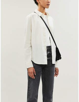 AG Jeans Cade linen-and-cotton blend shirt