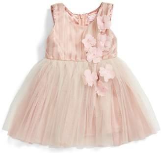 Popatu Sleeveless Rosette Tulle Dress