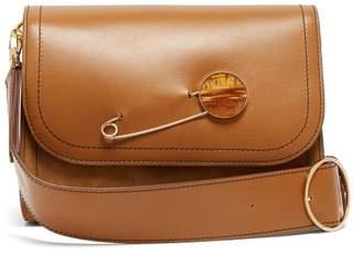 081f52513505 Hillier Bartley - Safety Pin Embellished Leather Shoulder Bag - Womens - Tan