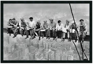 "Amanti Art ""New York - Lunch Atop a Skyscraper"" Framed Poster by Charles C. Ebbets"